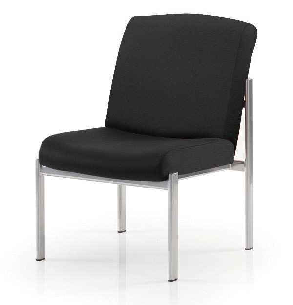 Discovery Easy Reception Chair Silver Frame No Arms