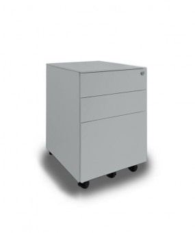 Silverline Steel 3 Drawer Classic Mobile Pedestal